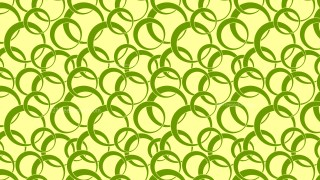 Green Seamless Overlapping Circles Background Pattern