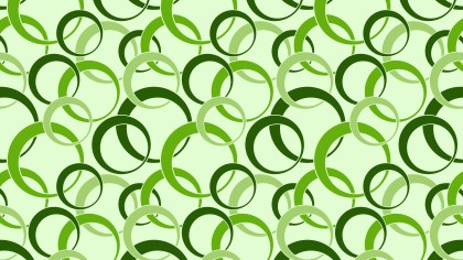 Green Seamless Overlapping Circles Pattern Image