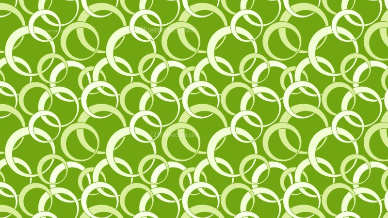 Green Seamless Overlapping Circles Pattern Background Vector Graphic