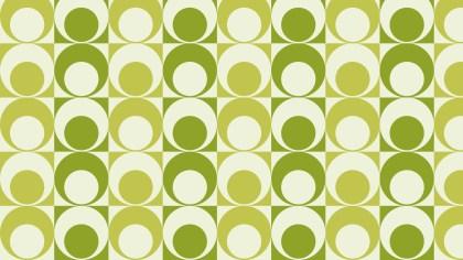Green Retro Vintage Circles Pattern