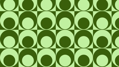 Green Seamless Geometric Circle Pattern Background