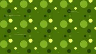 Dark Green Seamless Random Circle Dots Background Pattern