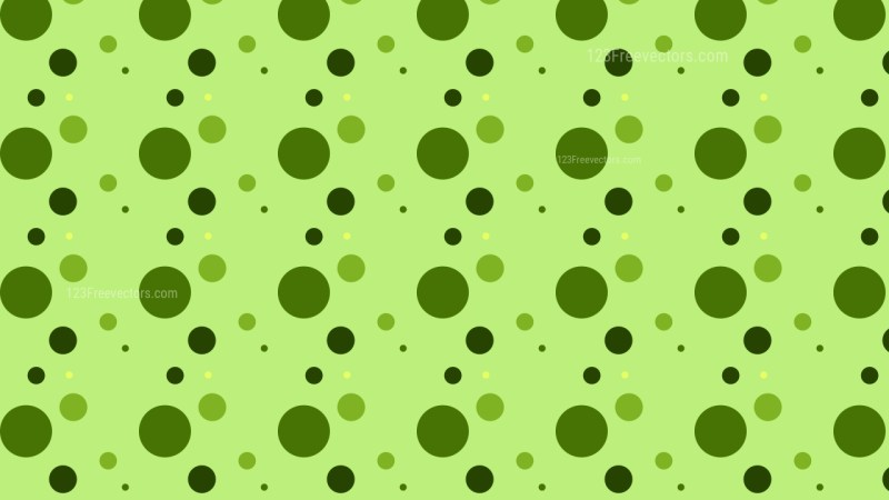 Green Random Dots pattern