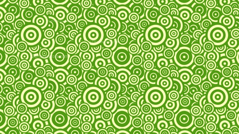 Green Overlapping Concentric Circles Pattern