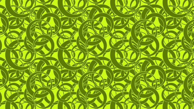 Green Seamless Overlapping Circles Background Pattern Vector Image