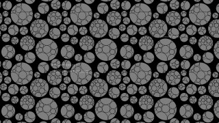 Black Geometric Circle Background Pattern Vector Image