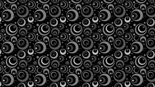 Black Seamless Circle Pattern Illustrator