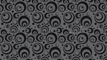 Black Seamless Circle Background Pattern Vector