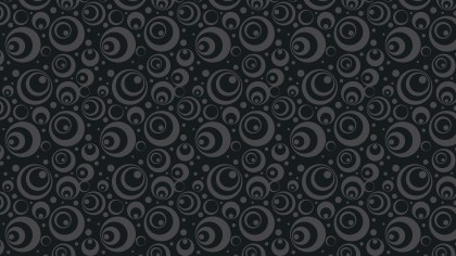 Black Seamless Geometric Circle Pattern Vector Art