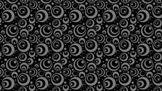 Black Seamless Geometric Circle Pattern Background Graphic