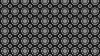 Black Seamless Geometric Circle Background Pattern Illustration