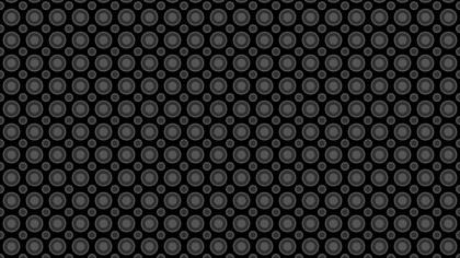 Black Geometric Circle Pattern