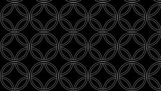 Black Seamless Overlapping Circles Pattern Background