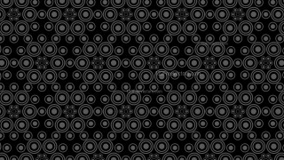 Black Seamless Circle Pattern