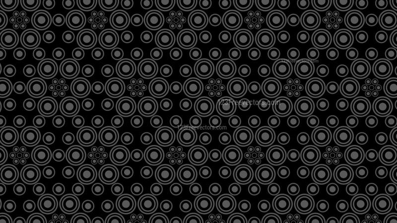 Black Seamless Circle Pattern