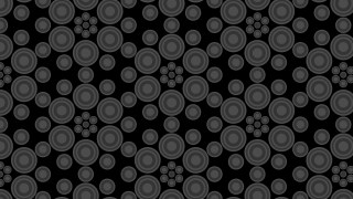 Black Seamless Circle Pattern Background