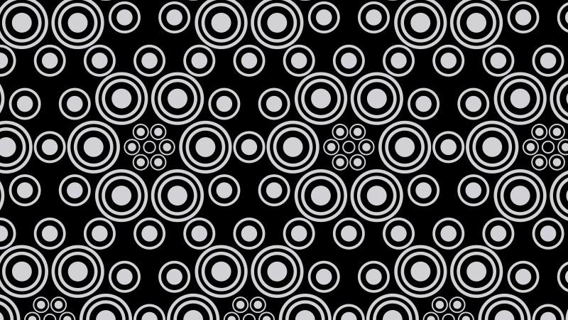 Black and Grey Seamless Geometric Circle Pattern