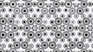 Black and Grey Seamless Geometric Circle Pattern Background