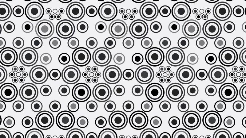 Black and Grey Seamless Geometric Circle Pattern Background