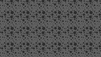 Black Random Circles Dots Background Pattern Vector Illustration