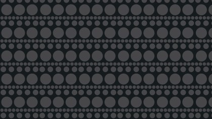 Black Seamless Circle Pattern Graphic