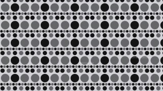 Black and Grey Seamless Circle Pattern Background Illustration