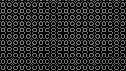 Black Seamless Circle Background Pattern Design