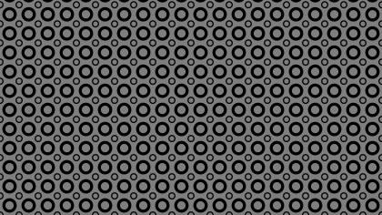 Black Seamless Geometric Circle Pattern Image