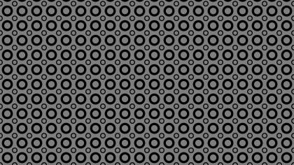 Black Seamless Geometric Circle Pattern Image