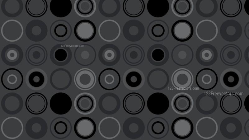 Black Seamless Circle Pattern Background