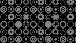 Black Seamless Circle Background Pattern