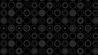 Black Seamless Geometric Circle Pattern
