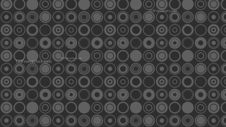 Black Seamless Geometric Circle Pattern Background