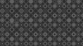 Black Seamless Geometric Circle Pattern Background