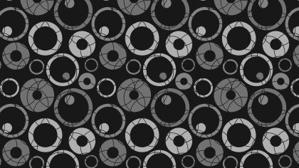 Black Seamless Geometric Circle Background Pattern