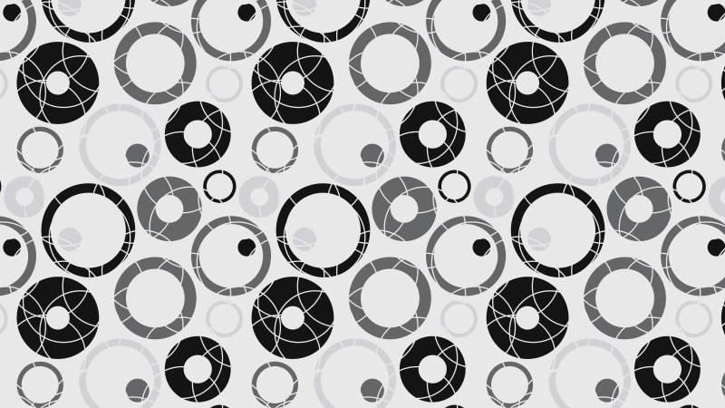 Black and Grey Geometric Circle Pattern Illustration