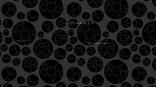 Black Geometric Circle Pattern Background Design