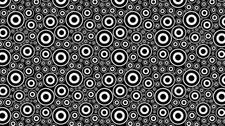 Black and White Seamless Circle Pattern Vector Graphic