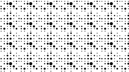 Black and White Seamless Random Circle Dots Pattern Background Vector Art