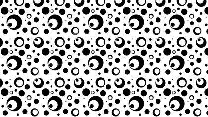 Black and White Seamless Geometric Circle Pattern Vector Illustration