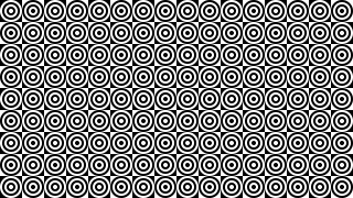 Black and White Seamless Concentric Circles Pattern