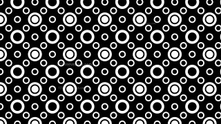 Black and White Seamless Geometric Circle Pattern Background Vector