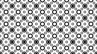 Black and White Seamless Geometric Circle Background Pattern Vector Art