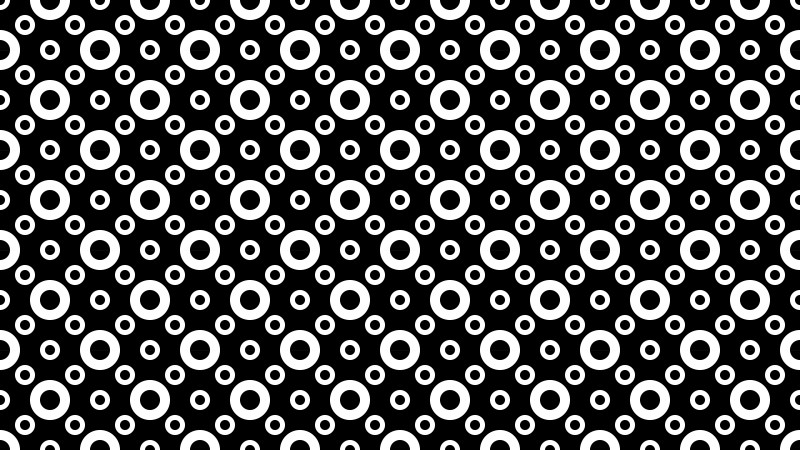 Black and White Circle Pattern Design