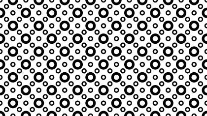Black and White Circle Pattern Background Image