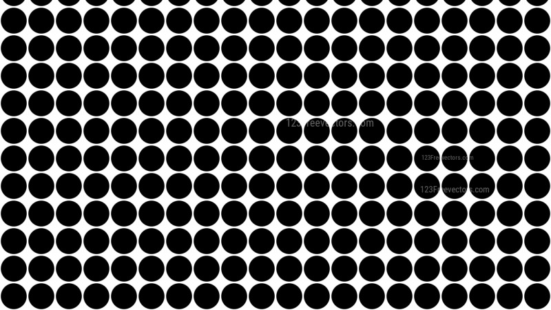 Black and White Geometric Circle Pattern Vector Image