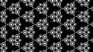 Black and White Geometric Circle Pattern Background Illustrator