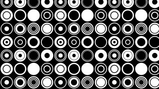 Black and White Geometric Circle Background Pattern Vector Illustration