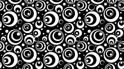 Black and White Seamless Geometric Circle Pattern Background Design