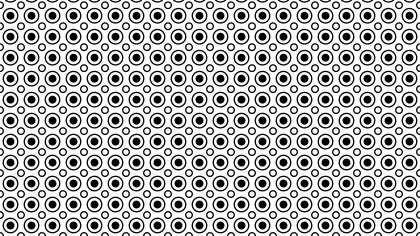Black and White Geometric Circle Pattern Background
